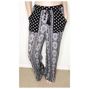 Band of Gypsies Wide Leg Print Pants Small